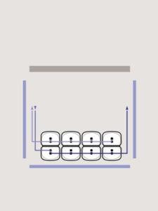 4 Heizöltanks als Batterie Erklärung eine Reihe