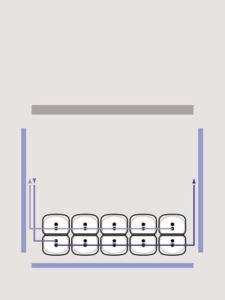 5 Heizöltanks als Batterie Erklärung eine Reihe