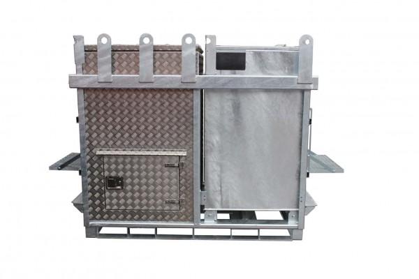 Mobiler Diesel + AdBlue® Kombitank aus Stahl