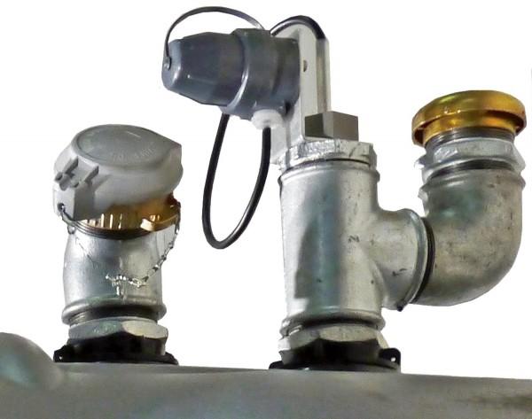 Befüll- und Belüftungsarmatur mit Grenzwertgeber für Diesel