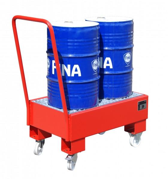 Fahrbare Auffangwannen Typ AW 60 für ein bis zwei 60l Fässer
