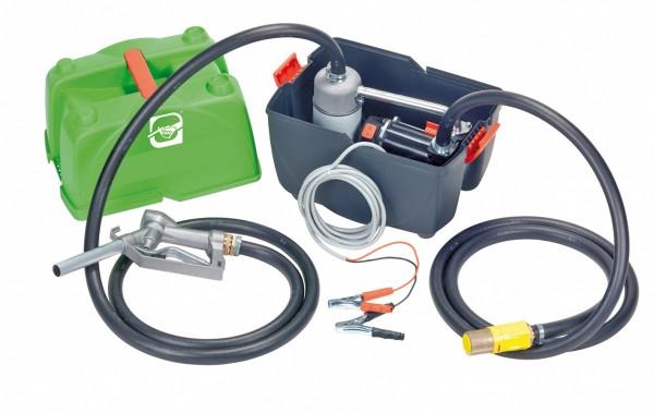 Betankungsbox E 3000 mit 12 V oder 24 V Pumpe für Diesel mit Zapfpistole und Schlauch