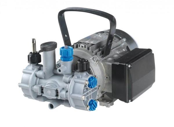 MC 18 Membranpumpe Säureversion , 230 V mit Elektromotor, Kabel und Stecker