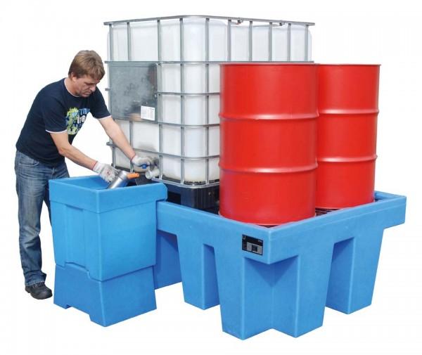 PE-Auffangwanne Typ WP für 200l-Fässer u. 1000l-IBC