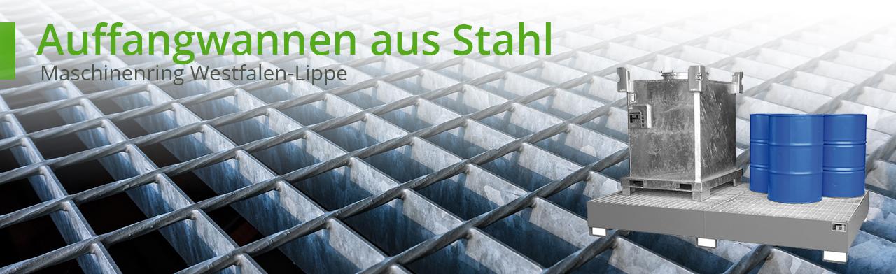 Auffangwannen aus Stahl