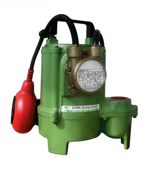 VORTEX 75, 2850 min-1, 230 V Schmutzwassertauchpumpe mit Schwimmerschalter