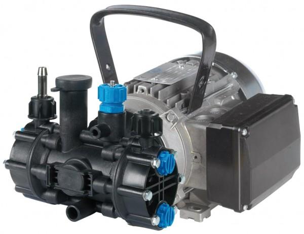 MC 18 Membranpumpe , 230 V mit Elektromotor, Kabel und Stecker