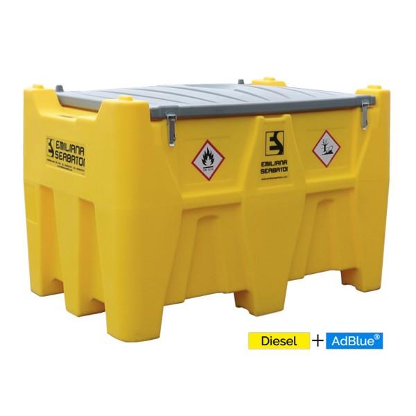 Carrytank Mobile Tankstelle Diesel + AdBlue® Kombitank 400+50l